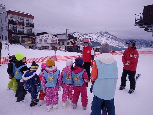 ちびっ子スキー体験2回目とフリースタイルの3回目