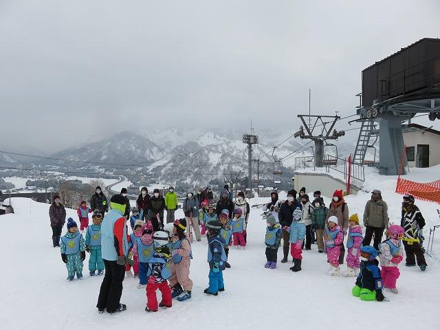 ちびっ子スキー体験初日